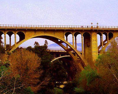 Photograph - Over The Arroyo by Timothy Bulone