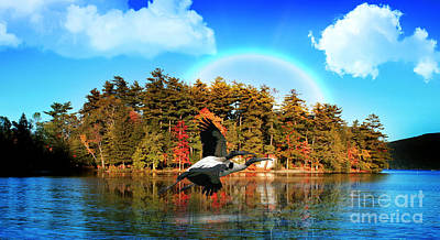 Lakes Digital Art - Over The Rainbow by Mark Ashkenazi