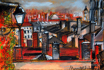 Over The Roofs Art Print