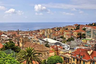 Over The Roofs Of Sanremo Art Print by Joana Kruse
