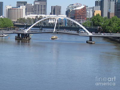 Over The Yarra Art Print by Donna Cavender