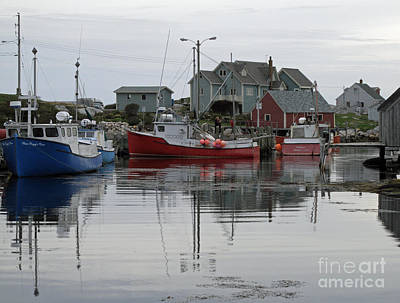 Art Print featuring the photograph Overcast At Peggy's Cove  by Louise Peardon