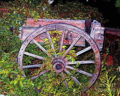 Photograph - Overgrown Garden Cart by Merton Allen