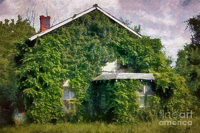 Building Photograph - Overgrown House Seven by Susan Isakson