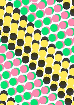 Repeating Digital Art - Overlayed Dots by Louisa Knight
