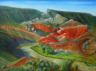 Chama River Painting - Overlook Near Ghost Ranch by Mark Malone