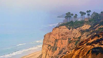 San Diego Artist Digital Art - Overlooking Black's Beach La Jolla by Russ Harris
