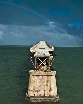 Florida Bridge Photograph - Overseas Railroad by Scott Meyer