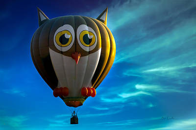 Owl Hot Air Balloon Art Print by Bob Orsillo