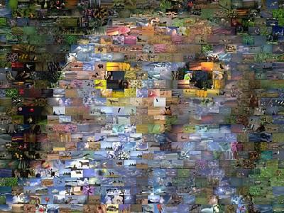 Abstract Trees Mandy Budan - Owl Mosaic by Paul Van Scott
