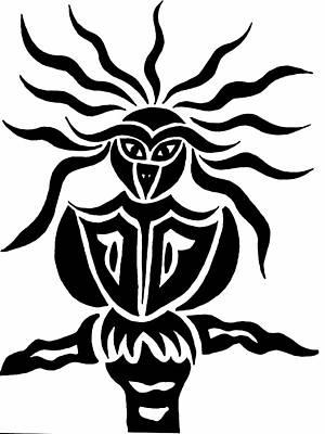 Owl Or Alien Two Art Print by Beth Akerman