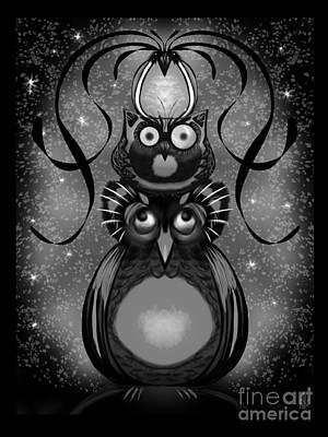 Digital Art - Owl Totem by J Kinion