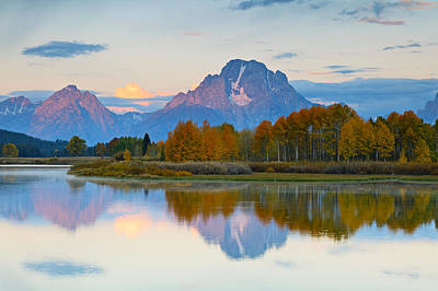 Herbstfarben Photograph - Oxbow Bend At Sunrise by Rainer Grosskopf