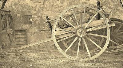 Wagon Photograph - Oxen Cart by Daryl Macintyre