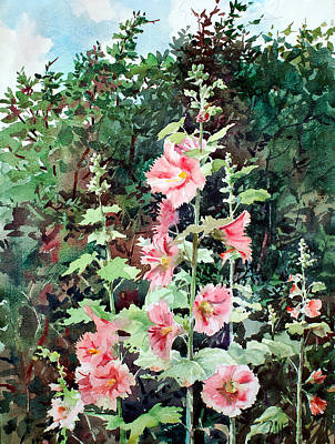 Painting - Oxenden Hollyhock by Peter Sit