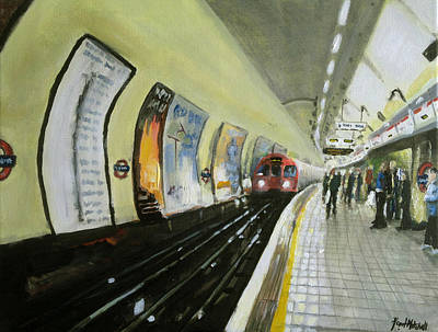 Oxford Circus Station Art Print by Paul Mitchell