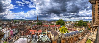 Photograph - Oxford Cityscape Panorama by Yhun Suarez