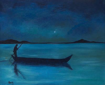 Quietness Painting - Oyendo El Amanecer by Jaime Rodriguez-raigoza