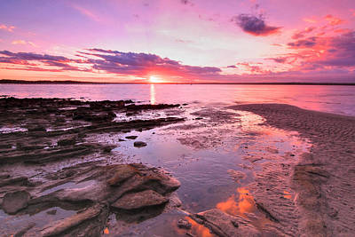 Photograph - Oyster Cove Sunset by Paul Svensen