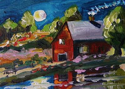 Jmwportfolio Painting - Oyster Shell Moon by John Williams