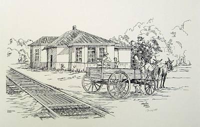 Ozark Depot Art Print by Charles Sims
