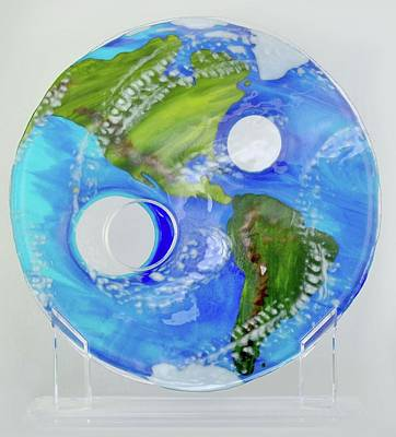Glass Art - Ozone by Michelle Ferry