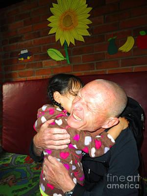 Ozzie Photograph - Ozzie Kisses Special Kids by Al Bourassa