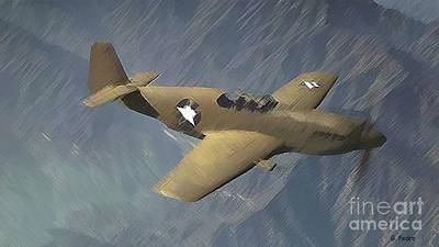 Photograph - P 51 Mustang On A Mission by George Pedro