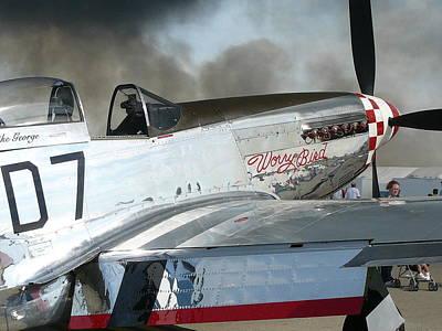 Photograph - P-51 Worry Bird by Mark Lehar