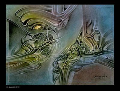Pastel - p18 Labyrinth3 2009 by Glenn Bautista