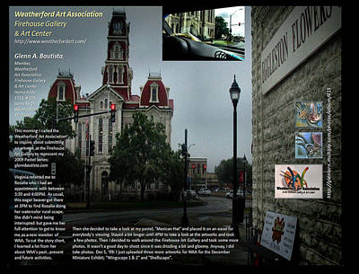 Digital Art - p28 Weatherford TX Courthouse by Glenn Bautista