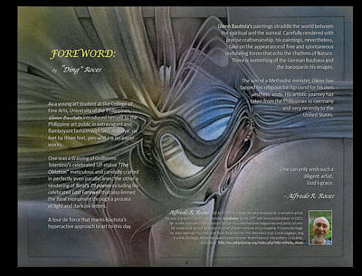 Digital Art - p3 Foreword by Alfredo Roces by Glenn Bautista