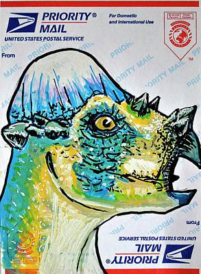 Painting - Pachycephalosaurus by Josean Rivera