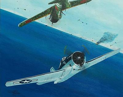 Painting - Pacific Duel by Gene Ritchhart