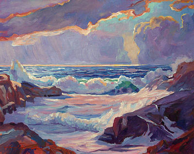 Storm Clouds Painting - Pacific Grove Winds by David Lloyd Glover
