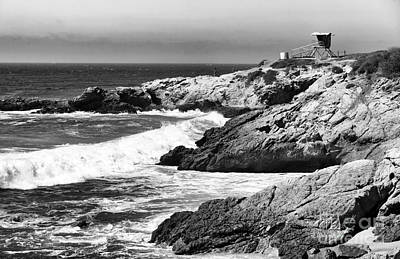 Photograph - Pacific Lifeguard View In Bw by John Rizzuto