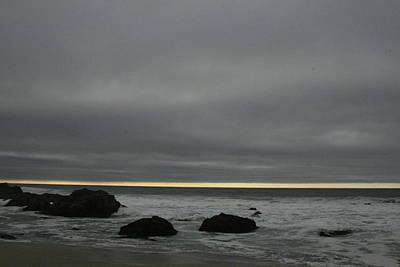 Pacific Ocean At Bodega California Art Print