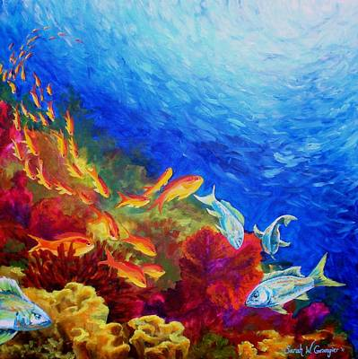 Painting - Pacific Reef 1 by Sarah Grangier