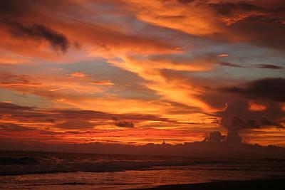 Pacific Sunset Costa Rica Print by Michelle Wiarda