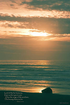 Verse Photograph - Pacific Sunset by Mick Anderson