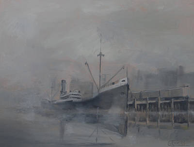 Harbor Painting - Pacific Trader by Christopher Jenkins