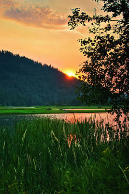 Art Print featuring the photograph Pack River Delta Sunset 2 by Albert Seger