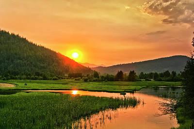 Photograph - Pack River Delta Sunset by Albert Seger