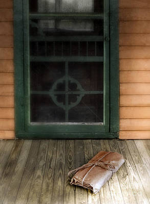Entrance Door Photograph - Package On Front Porch by Jill Battaglia
