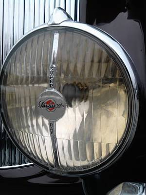 Photograph - Packard Limo Headlight by Tim Donovan