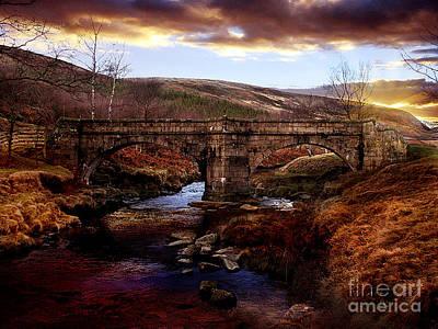 Packhorse Bridge Art Print by Nigel Hatton