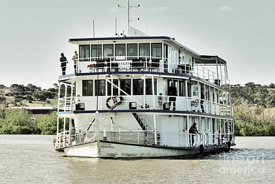 Photograph - Paddle Steamer At Murray Bridge by Stephen Mitchell
