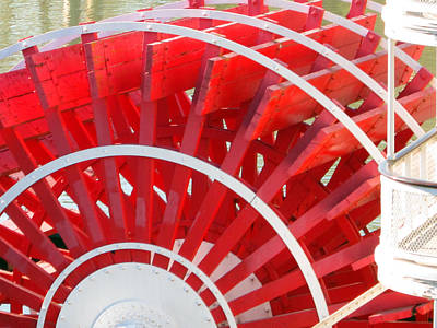 Paddle Wheel Art Print by Barry Jones