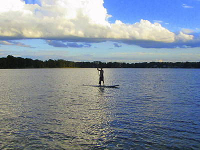 Photograph - Paddleboarding by RobLew Photography
