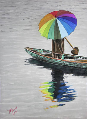 Paddling Downstream Art Print by Maris Sherwood
